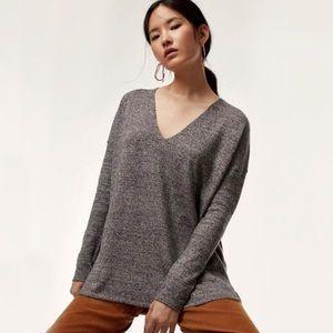 BABATON Erin V Neck Wool Sweater